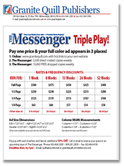 View The Messenger Rate Sheet