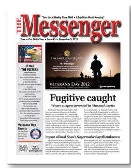 Download The Messenger - Nov. 9, 2012 (pdf)