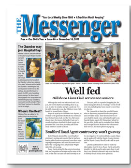 Download The Messenger - Nov. 16, 2012 (pdf)