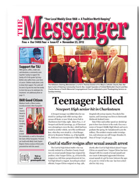 Download The Messenger - Nov. 23, 2012 (pdf)